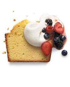 Pound cake is named for a traditional recipe that includes a pound each of flour, butter, eggs, and sugar -- but worry not, because not all of our recipes call for a pound of butter. Check out our collection of recipes -- from the classic original to flavors such as lemon, blueberry, chocolate chip, and more.