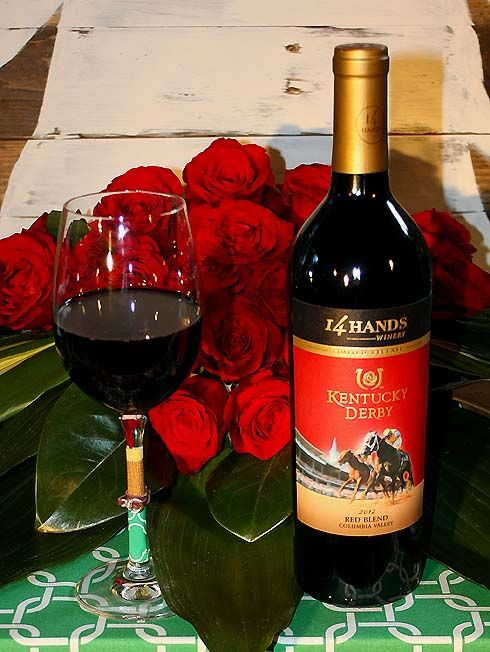 A delicious wine for a Derby home viewing party ~ 14 Hands Limited Release 2012 Kentucky Derby® Red Blend #14HandsDerby