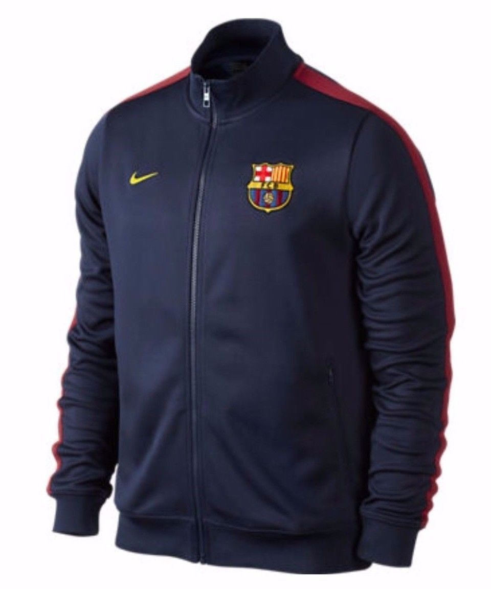 a1226e0ed05b NIKE FC BARCELONA AUTHENTIC N98 TRACK JACKET Navy Red.