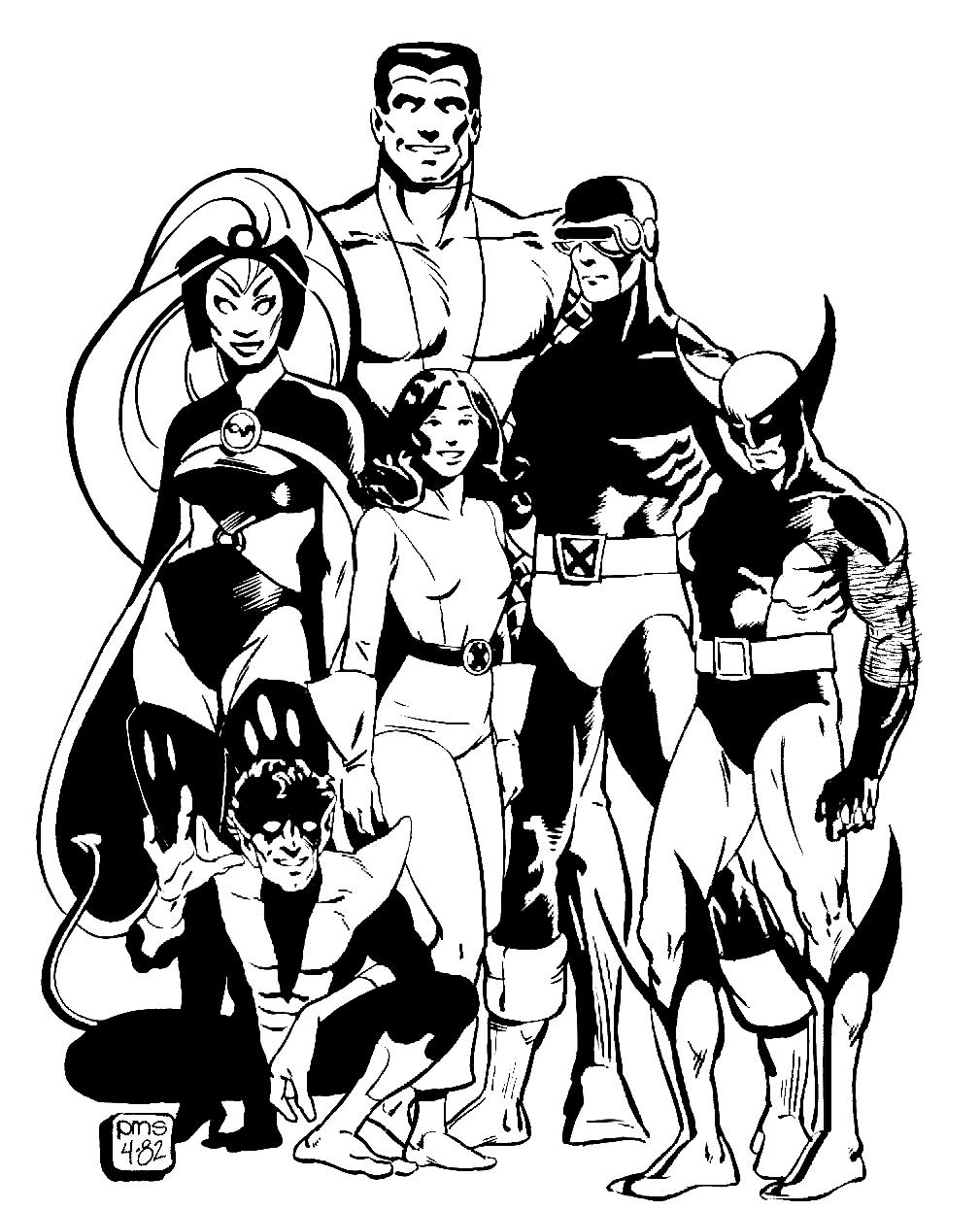 X Men By Paul Smith Superhero Coloring Pages X Men Comic Books Art