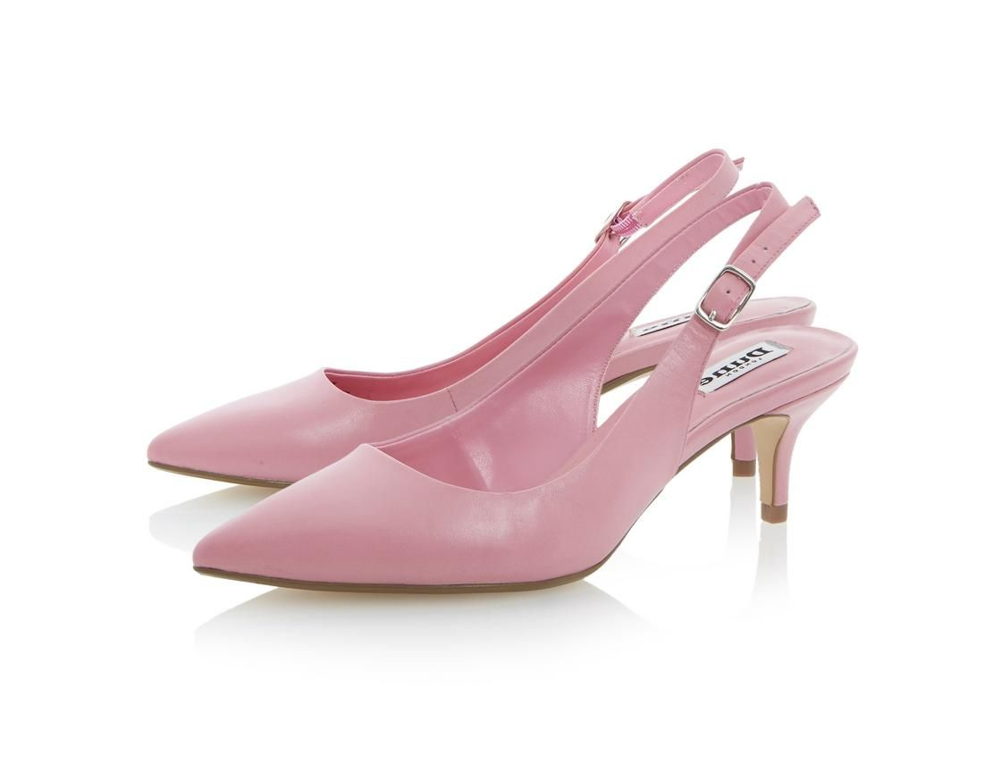 DUNE LADIES CATHRYN - Leather Slingback Kitten Heel Court Shoe by Dune Shoes  Online #dunelondon