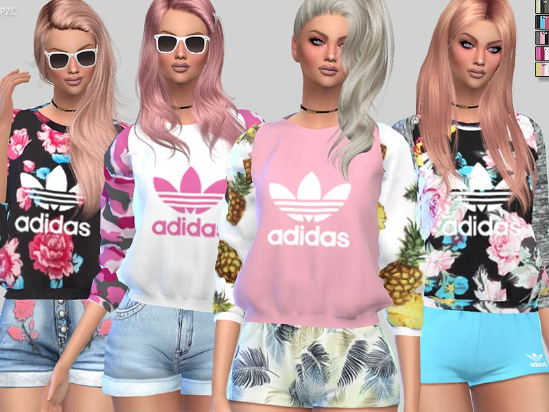 Pinkzombiecupcakes' Adidas Hoodie For Toddler | Sims 4