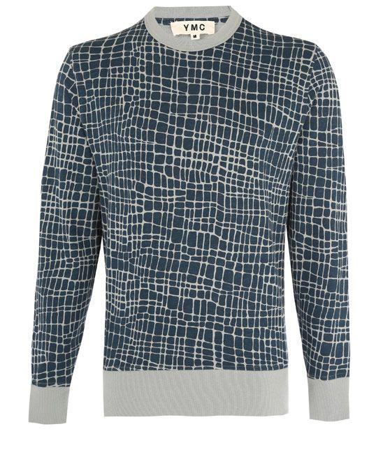 YMC Navy Giraffe Print Cotton Sweater | Sweaters, Cotton