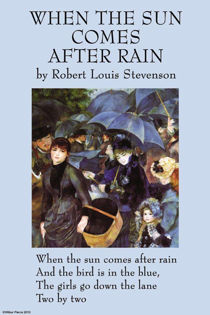 When the Sun Comes After Rain - Robert Louis Stevenson | Rain ...
