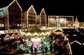 Christmas Market, Ulm, Lights, Market