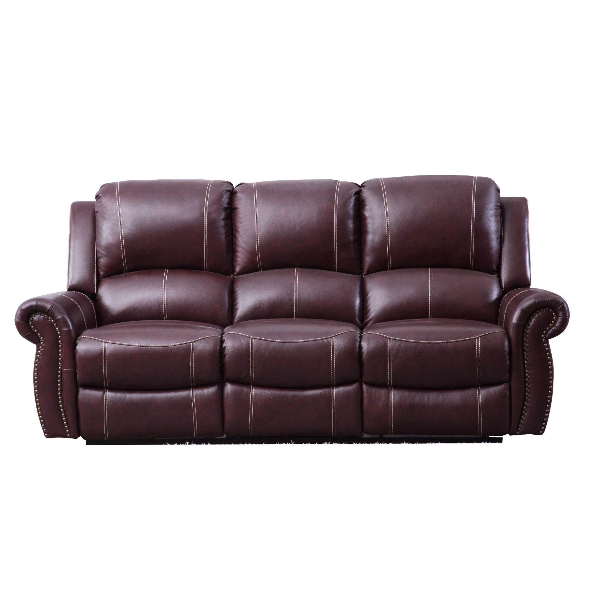 Cool Lorenzo Top Grain Leather Reclining Sofa Burgundy Abbyson Bralicious Painted Fabric Chair Ideas Braliciousco