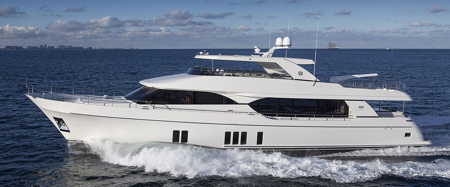 The Ocean Alexander 100 With Open Flybridge Is Designed For Long