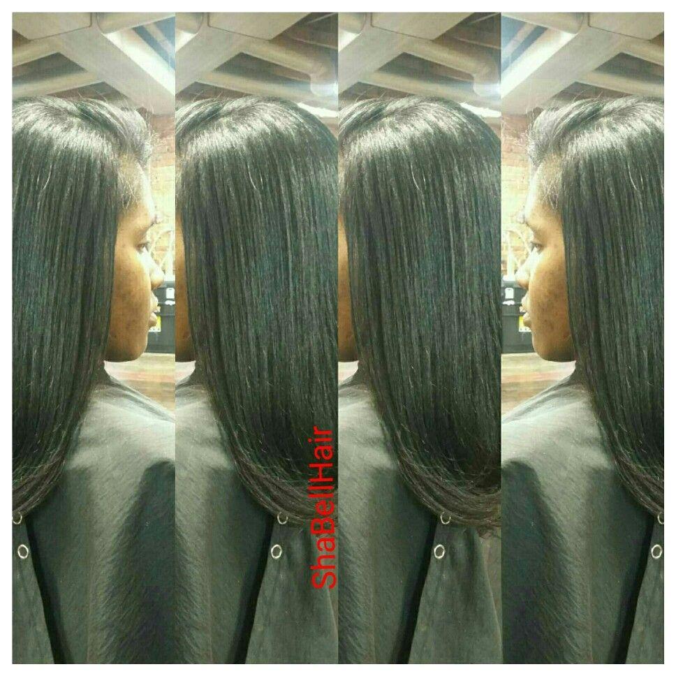 Silk Press Styled By Shalonda Bell Directions Salon Detroit Mi Hair Styles Long Hair Styles My Hair