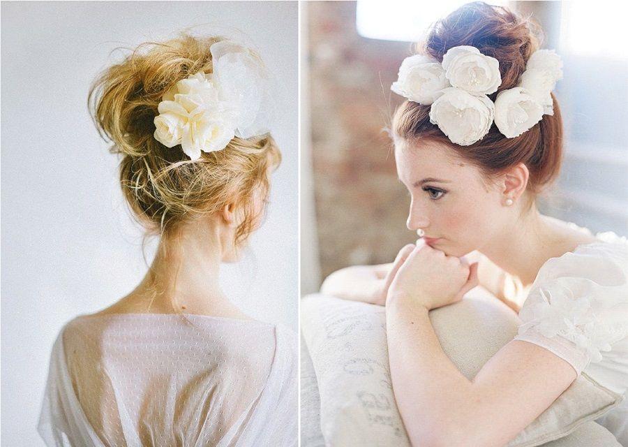 Coiffure de mariée  10 chignons fleuris , La Mariée en Colère Blog Mariage,  grossesse
