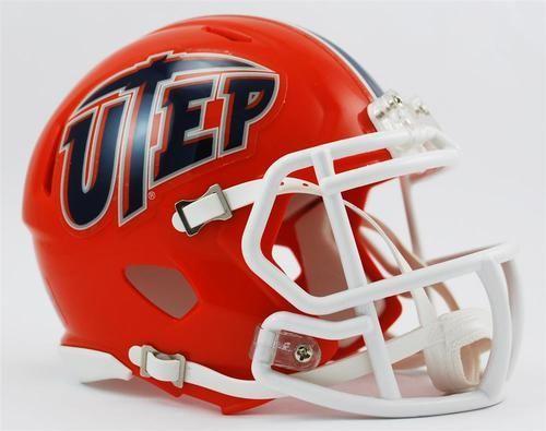 UTEP Miners Mini Riddell Speed Football Helmet