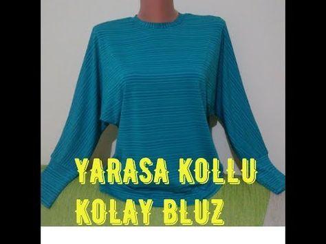 Kruvaze Bluz Dikimi Kalipsiz Youtube Bluz Dikis Patronu Moda Dikis