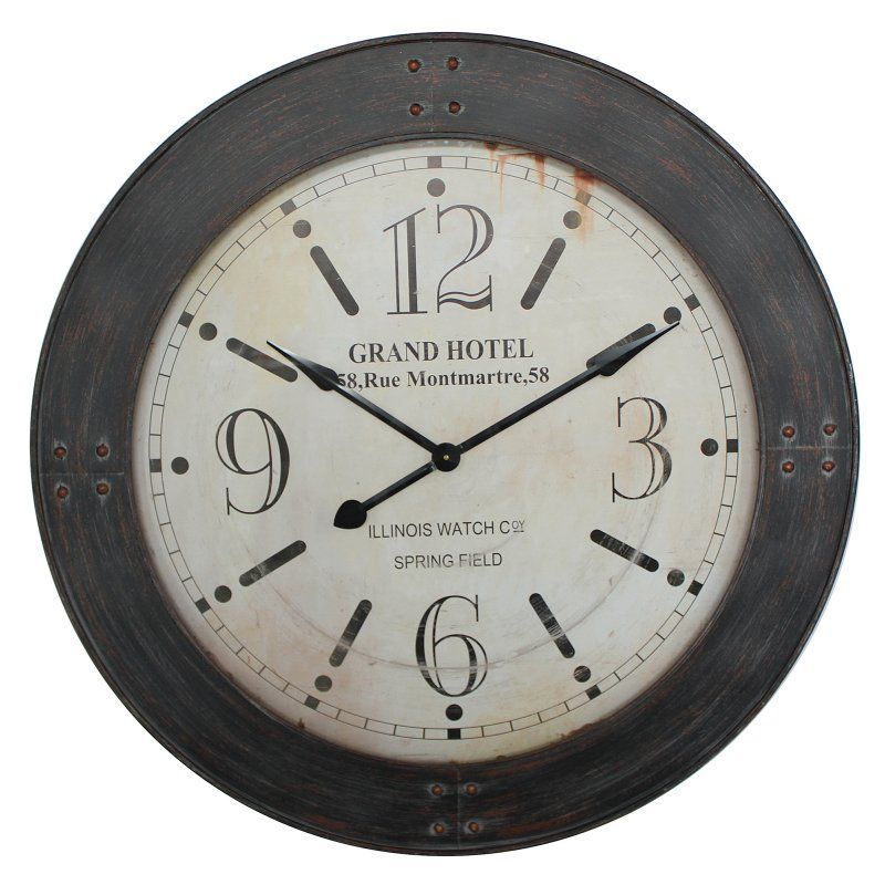 Yosemite Home Decor 39 in. Circular Iron Wall Clock - CLKBA129