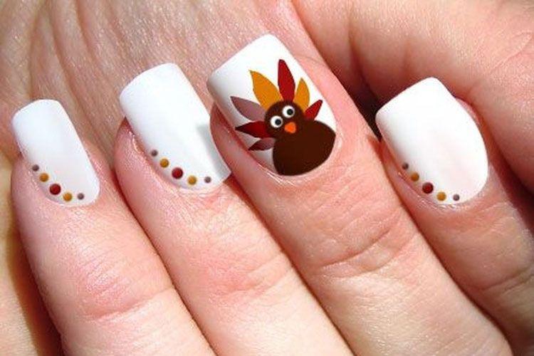 45 Thanksgiving Fall Nail Color Ideas 2020 Guide Thanksgiving Nail Designs Thanksgiving Nail Art Fall Nail Art Designs