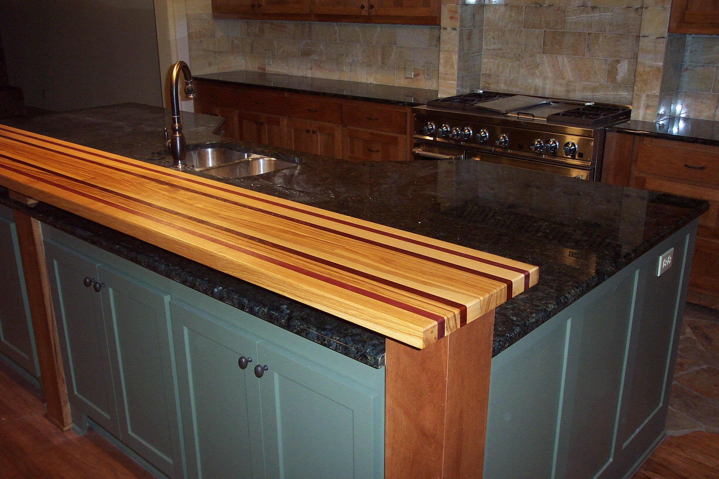 A Stand Out Bar Top Made With Pecan Purple Heart And Red Heart Wood Bar Top Kitchen Countertops Countertops