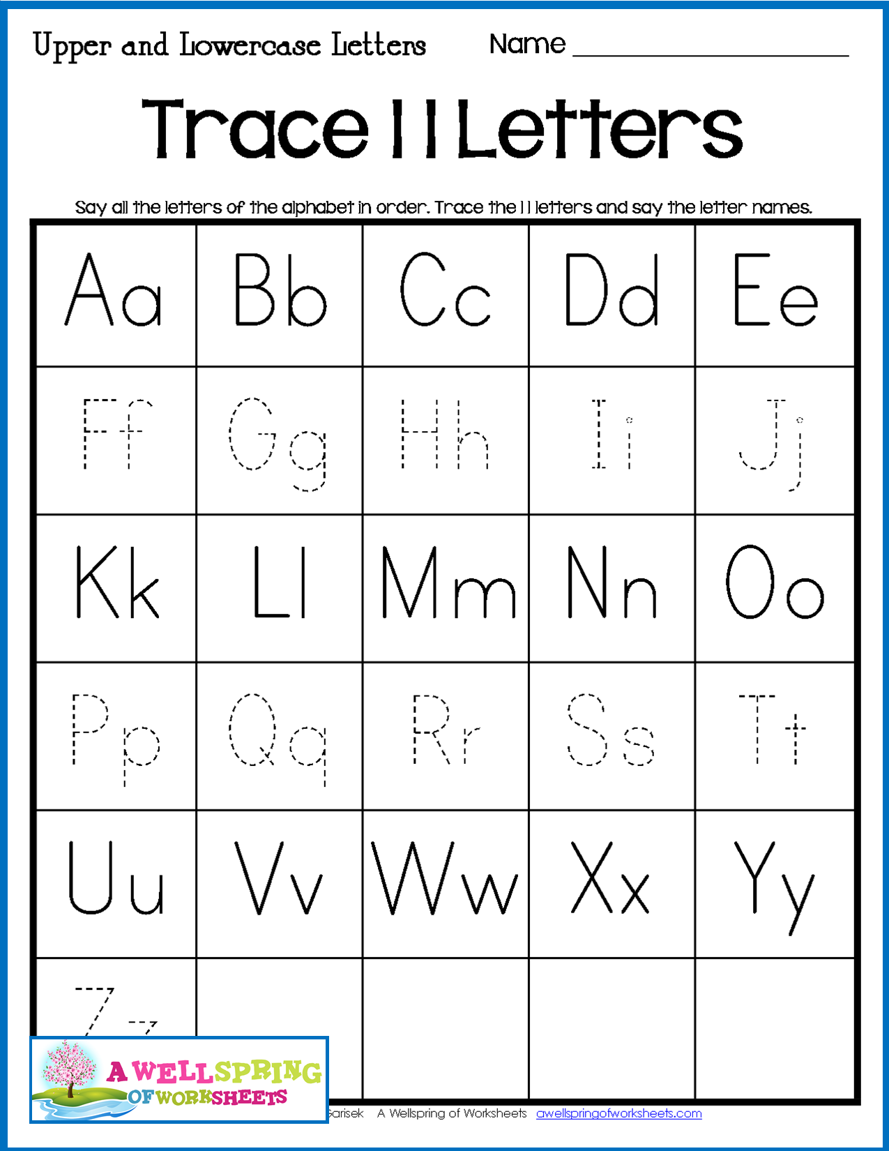 Alphabet Tracing Worksheets For Kindergarten Trace Some Or All Of The Letters A Variety Of 30 Alphabet Tracing Worksheets Tracing Worksheets Alphabet Tracing [ 1650 x 1275 Pixel ]
