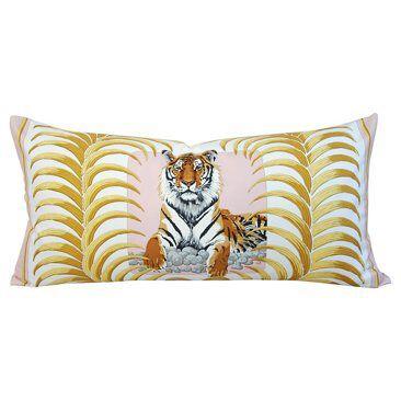 Check out this item at One Kings Lane! Hermès Christiane Vauzelles Tiger Pillow