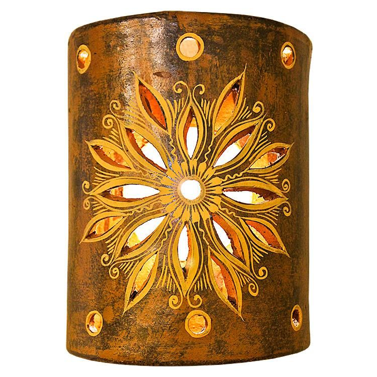 Clay Wall Sconce With Images Clay Wall Polished Nickel Wall