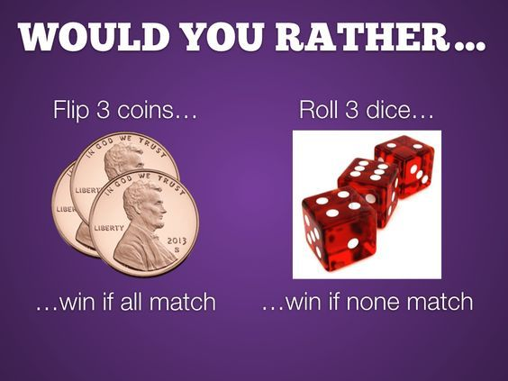 Probability Would You Rather Classroom Math