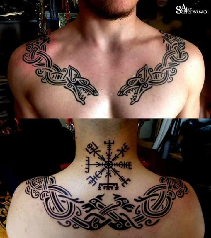 Viking Wolf Tattoo Would Make An Awesome Embroidery Collar Design