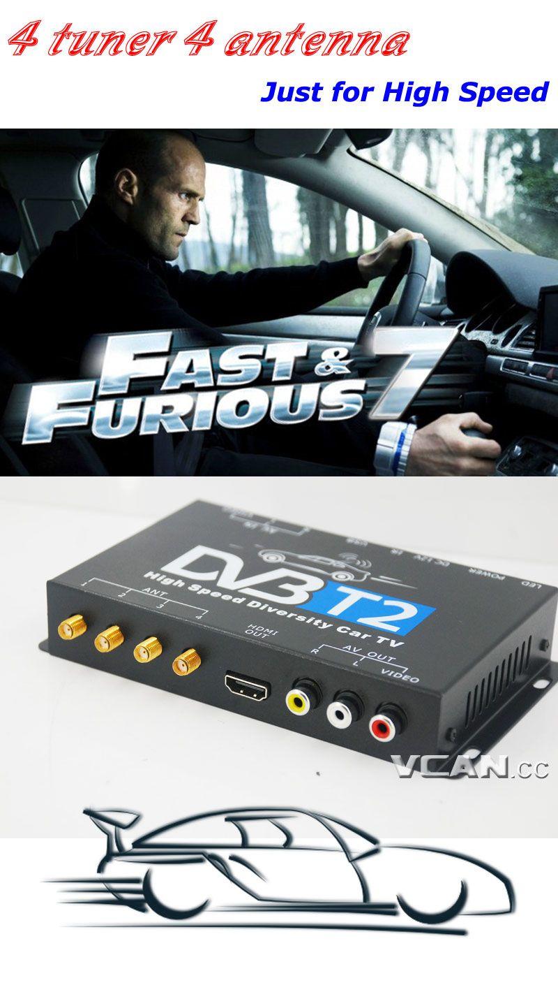 Car Dvb T2 Tv Receiver Box Four Tuners Av Out Active Antenna T Circuit Diagram 25db High Speed