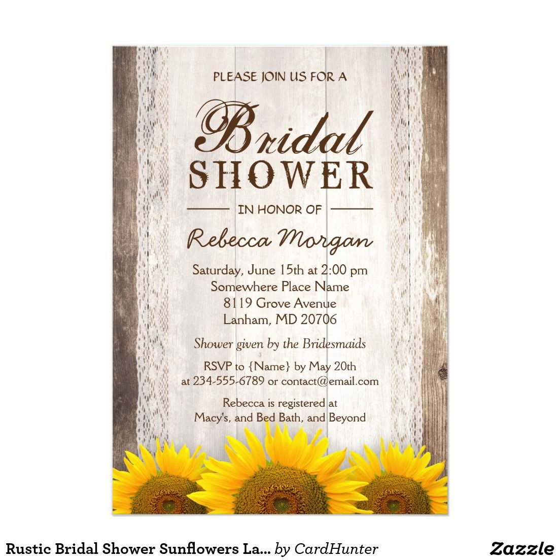 Rustic Bridal Shower Sunflowers Lace Barn Wood | Sunflower Wedding ...