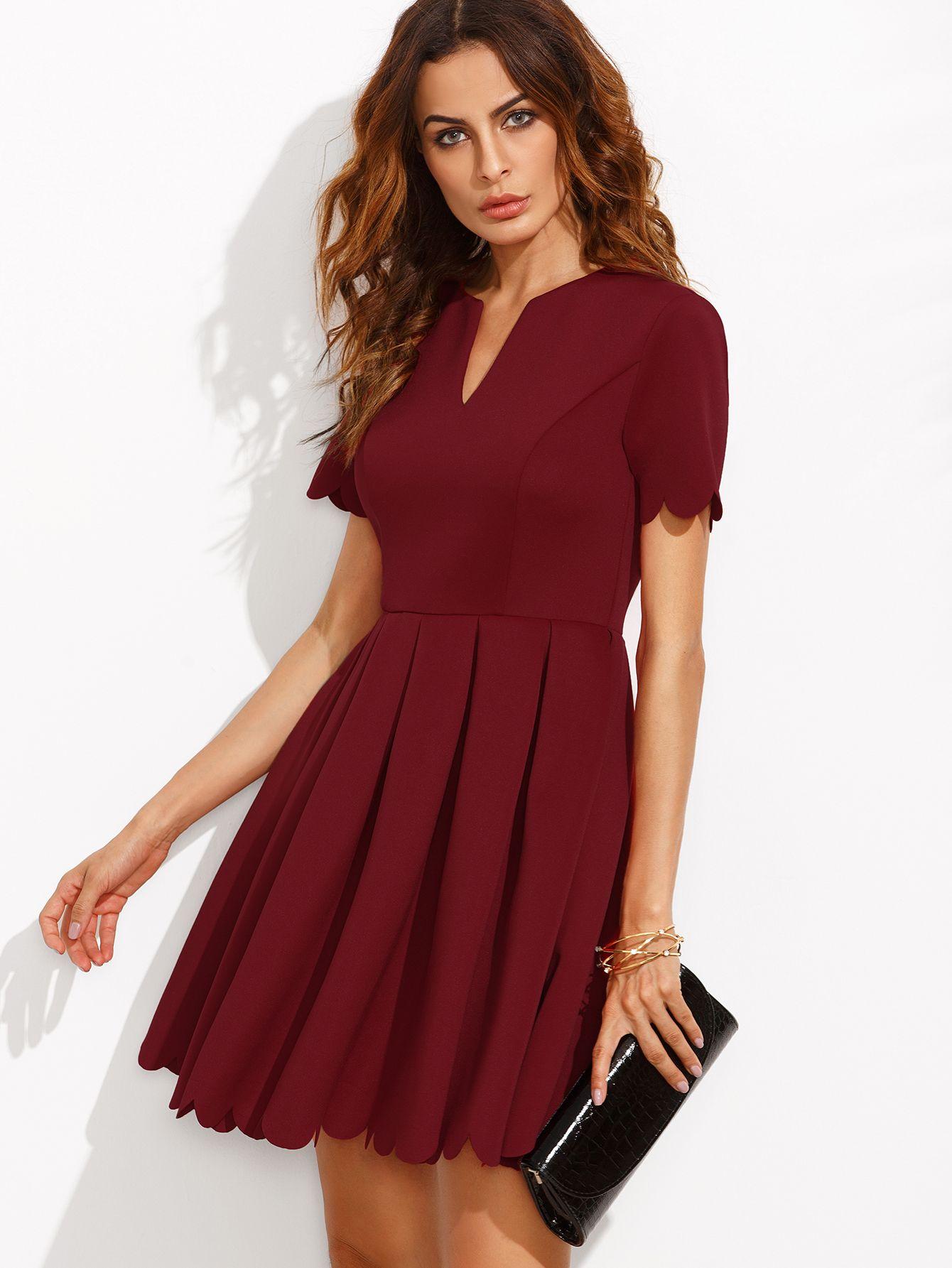Robe femme rouge bordeaux