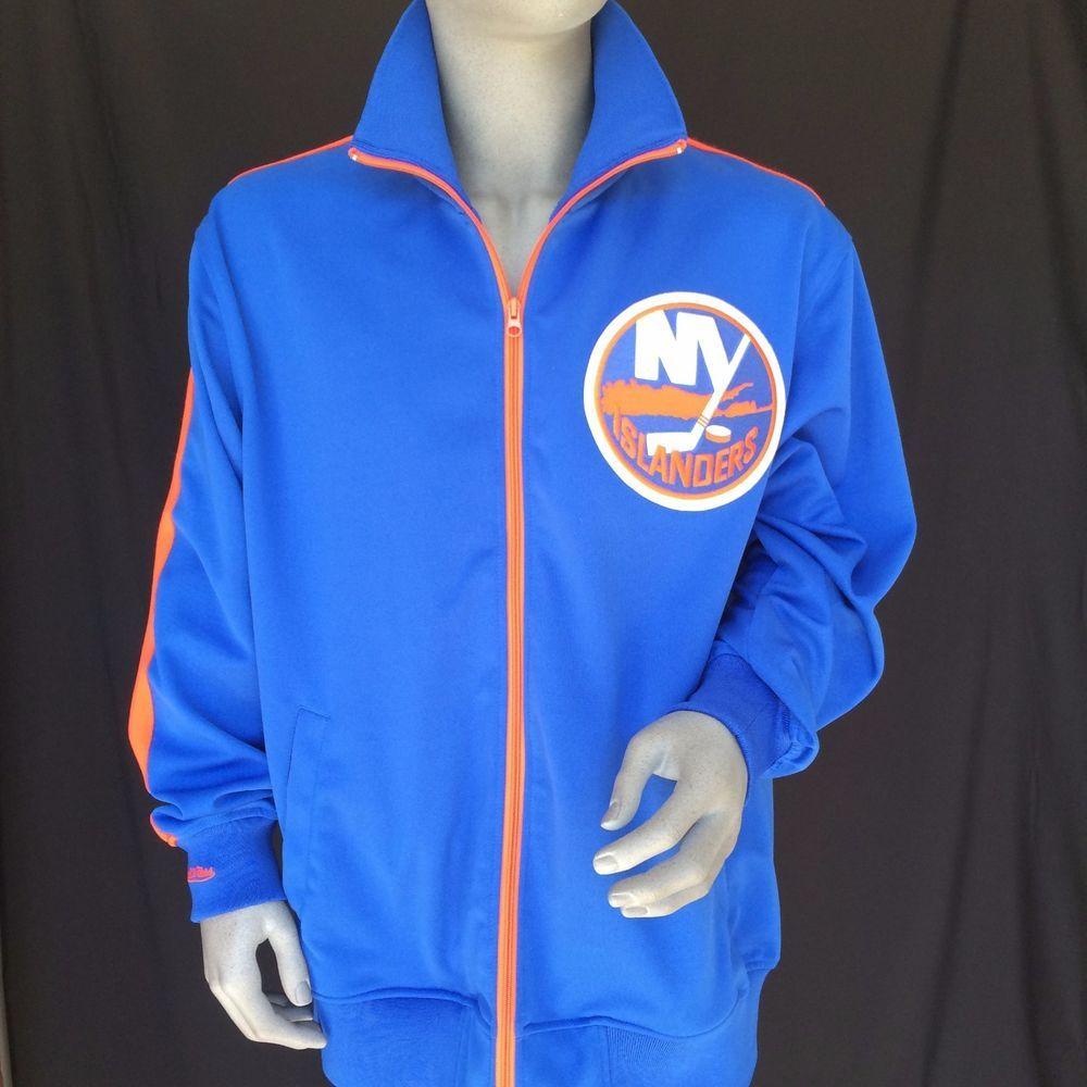 New York NY Islanders Jacket Mens Size 52 2XL Mitchell  amp  Ness Vintage  NHL Hockey 0a0186e0c