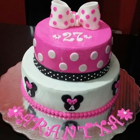 Pastel de Chocolate Decoracin Minnie Cakes Pinterest Cake
