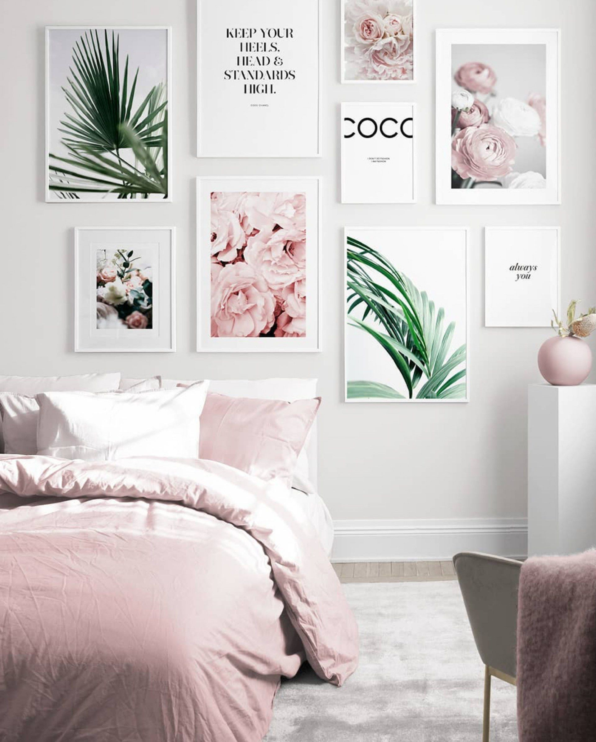 120 Decorating Ideas For A Wall Wall Decoration Pink Bedroom Walls Bedroom Wall Interior Design Living Room Bedroom wall decor ideas
