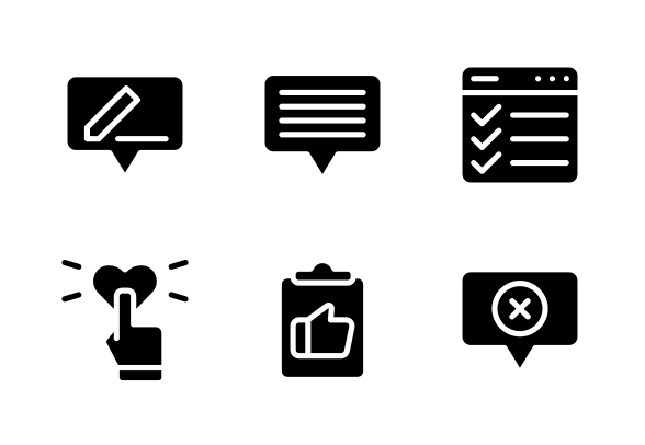 Feedback And Testimonials Icons By Aftergrind Flat Design Icons Testimonials Icon