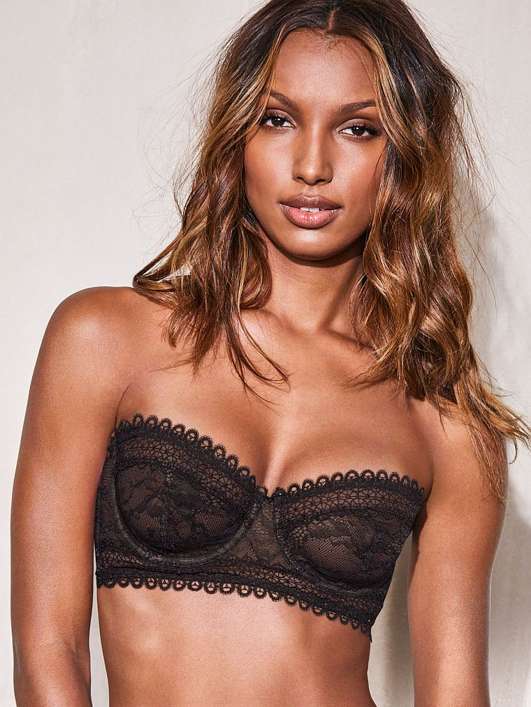 d3c6f3c6c6 Lace   Mesh Unlined Strapless Bra - Very Sexy - Victoria s Secret ...