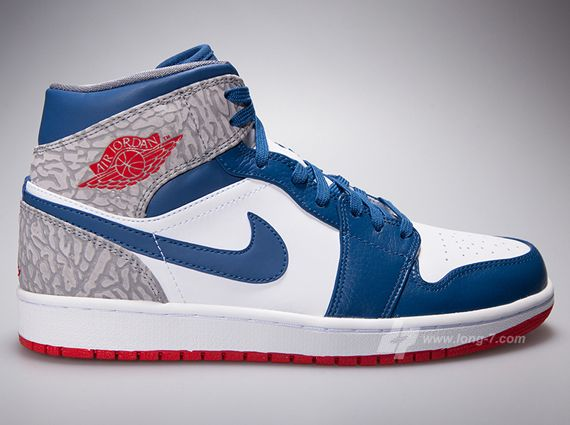 Authentic Air Jordan 1 Mid ??True Blue??