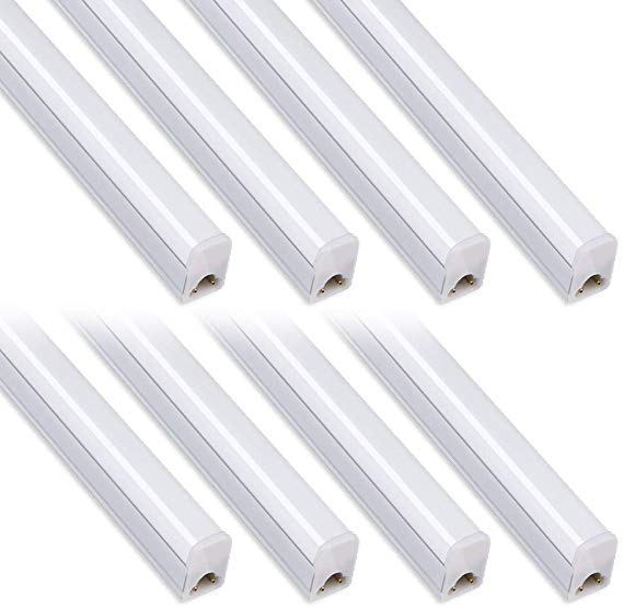 Pack Of 8 Kihung Under Cabinet Light 2ft 10w 1100lm 6500k Super Bright White Utility Led Shop Light Led Shop Lights Led Ceiling Lights Led Tube Light