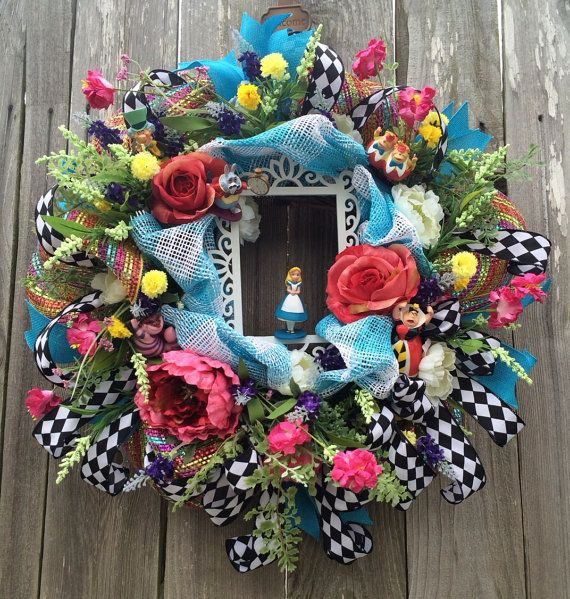 Reserved Listing Everyday Wreath Alice in by BaBamWreaths on Etsy