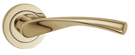 Fortessa \'Verto\', PVD Polished Brass Door Handles - FCOVER-PVD (sold ...