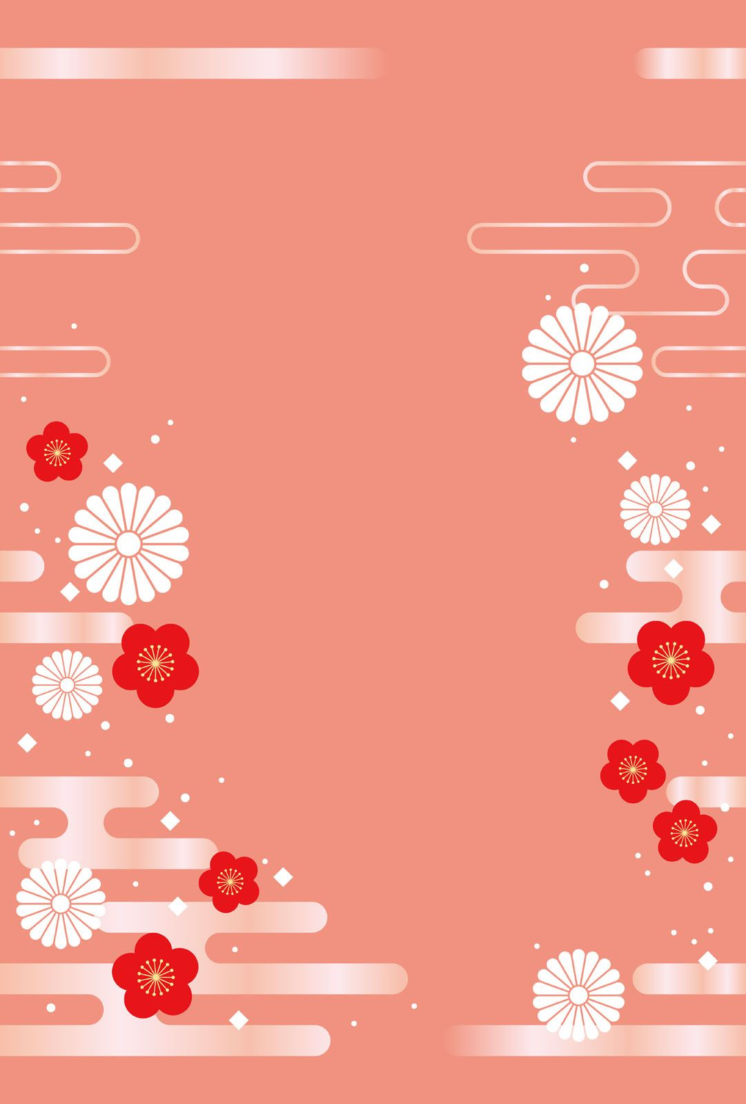 Download Japanese Seamless New Years Vertical Card Template Vector Art Choose From Japanese Background Chinese New Year Background Chinese New Year Wallpaper