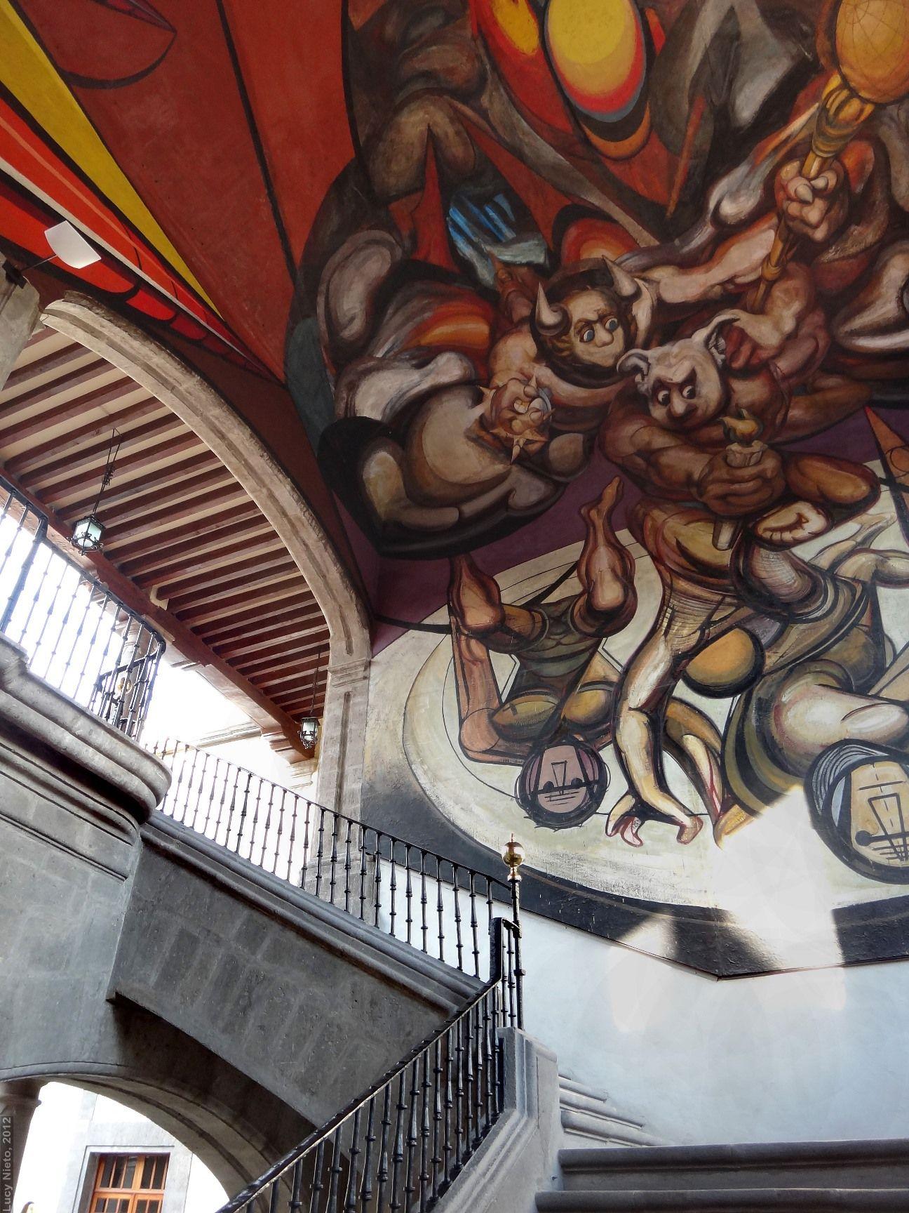 Mural patricios y patricidas 1945 1960 de david alfaro for El mural de siqueiros