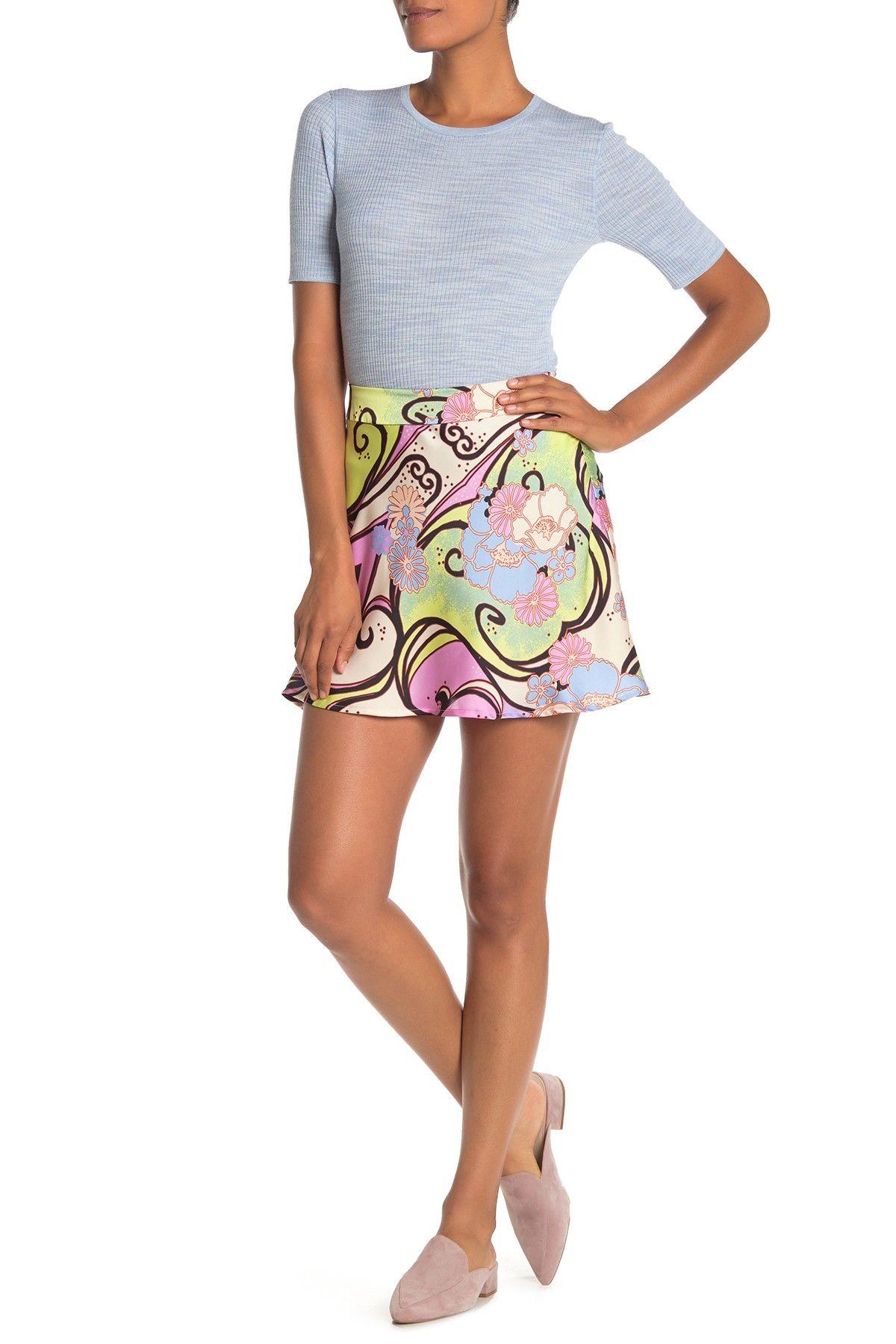 Phoebe Print Mini Skirt #nordstromrack