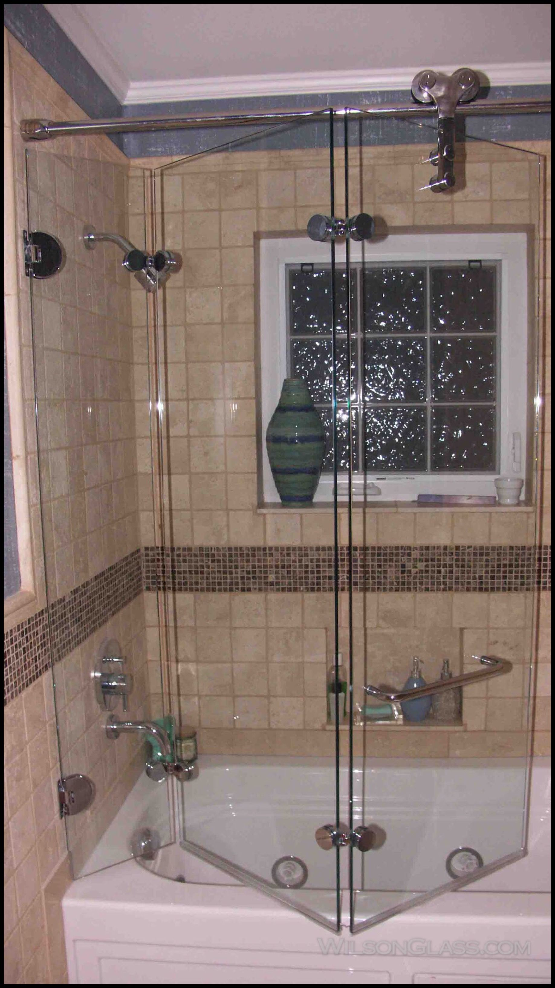 Wilson Glass Tri Fold Bath Enclosure Shower Doors Diy Shower