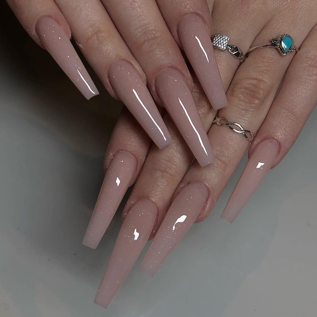 Maja Like Maya Stark On Instagram Sculpted Narrow Coffin Nails Custom Mixed Pink Acrylic W Best Acrylic Nails Ballerina Nails Designs Coffin Nails Long