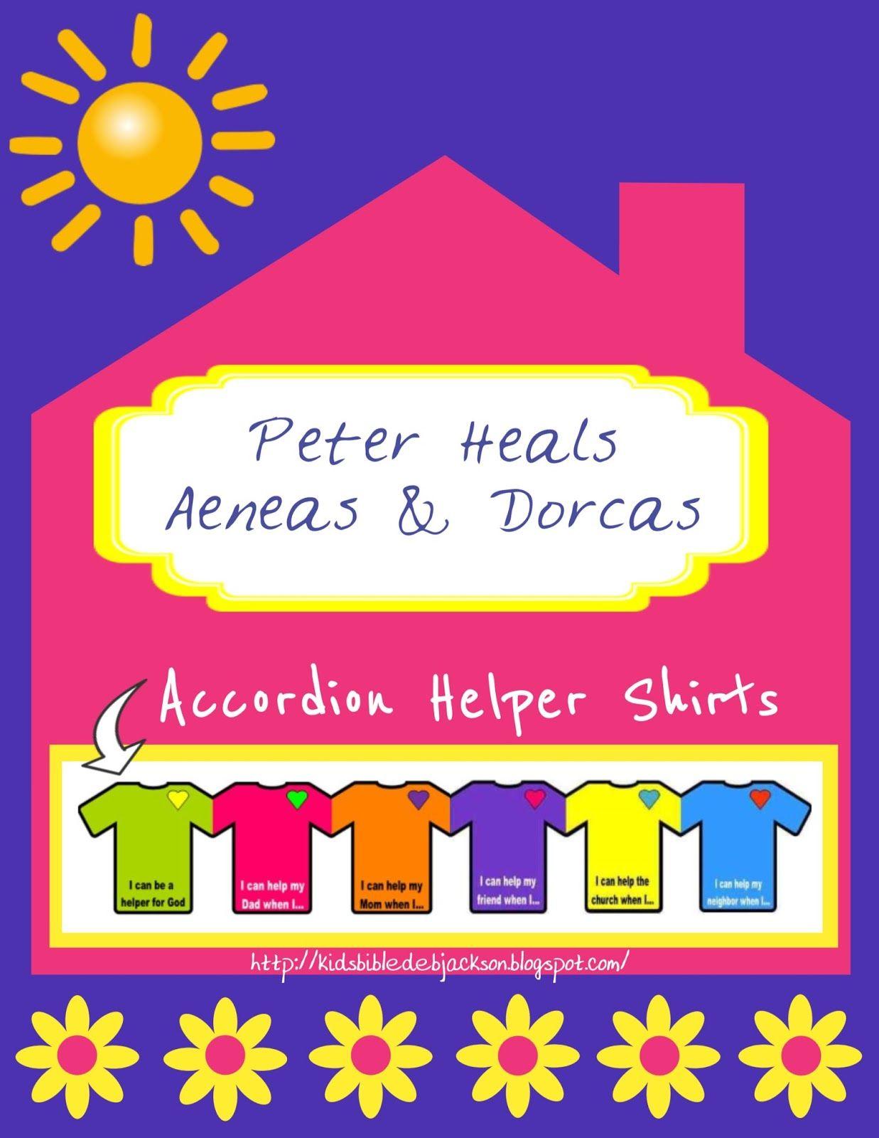 Peter Heals Aeneas Dorcas Bible Lessons For Kids Preschool