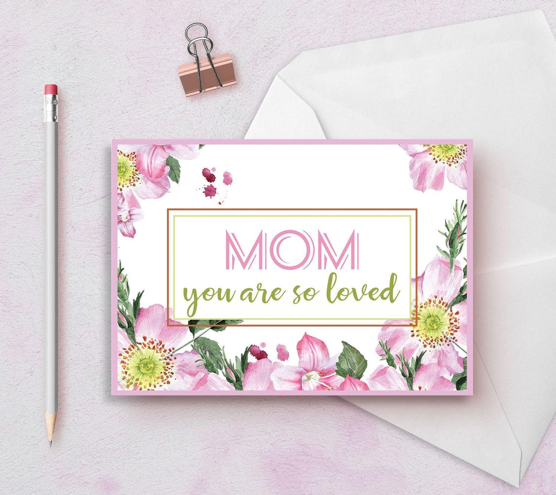 Mom Birthday Card Printable Happy Birthday Mom Card Printable