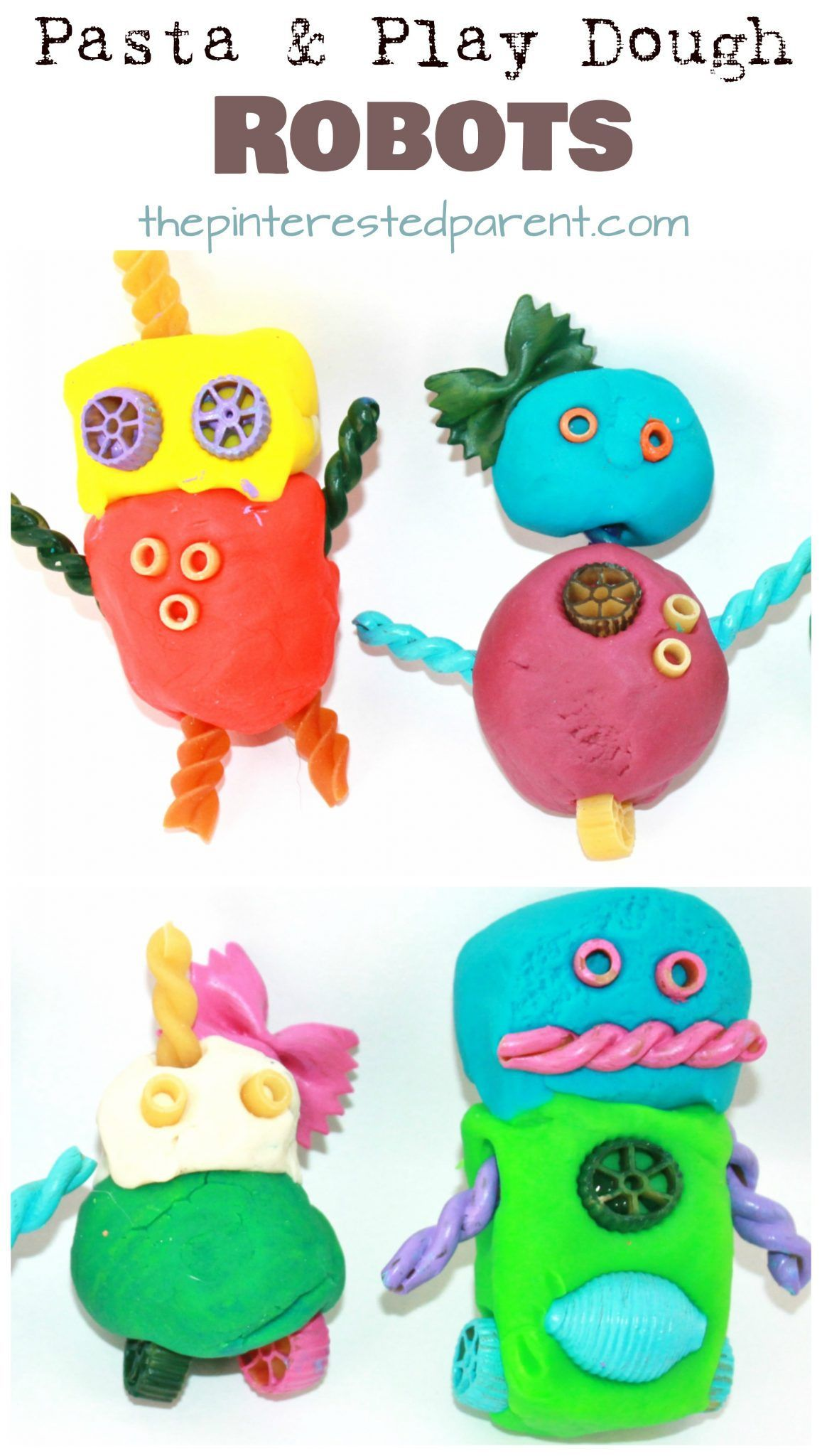 play dough craft ideas pasta and play dough or clay robots arts and crafts for 5220
