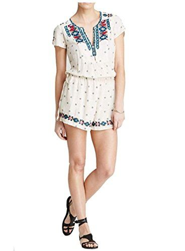 a46f1ce7d6ab Free People Noyal Song for You Embroidered Romper Tea combo Large   BEST  VALUE BUY on Amazon  RomperisSexy
