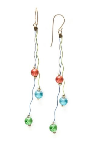 Earrings with Wonder Wiggle Wire® and Spectra Glass Beads