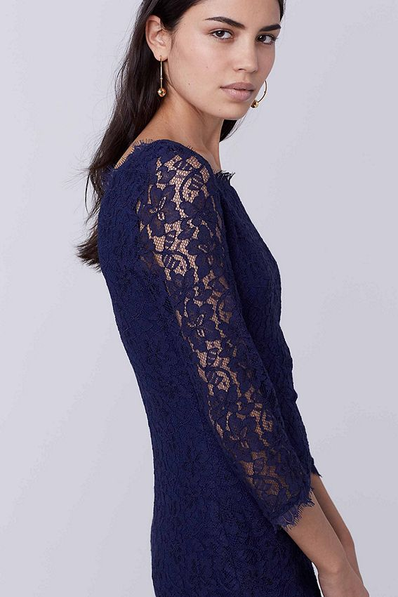 Zarita Lace Dress Diane Von Furstenberg Was $348 Now $208.80 The ultimate party dress, the stretch lace Zarita is one of our most popular styles. 3/4 sheer lace sleeves. Exposed back zip. Scalloped lace detail at hem. Jersey lining. Falls to mid thigh. Fit runs small. https://api.shopstyle.com/action/apiVisitRetailer?id=368603781&pid=uid841-37799971-81