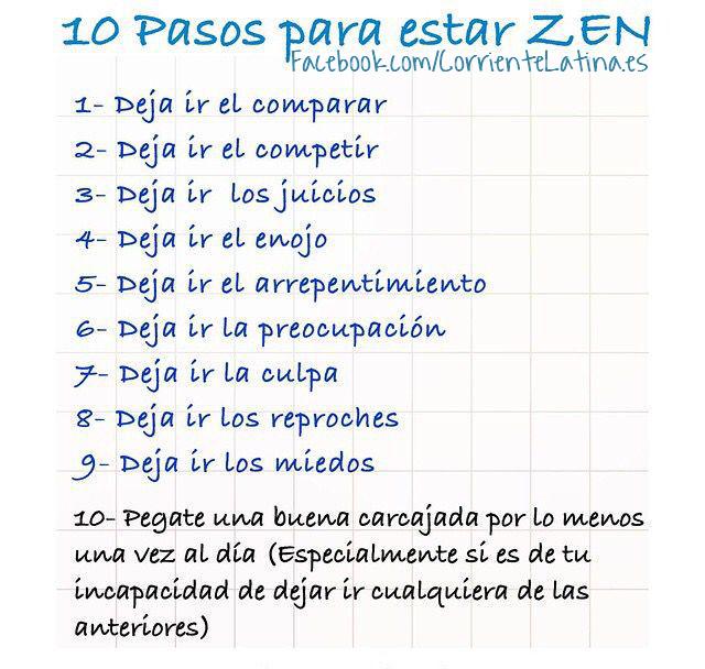 10 pasos para estar Zen.