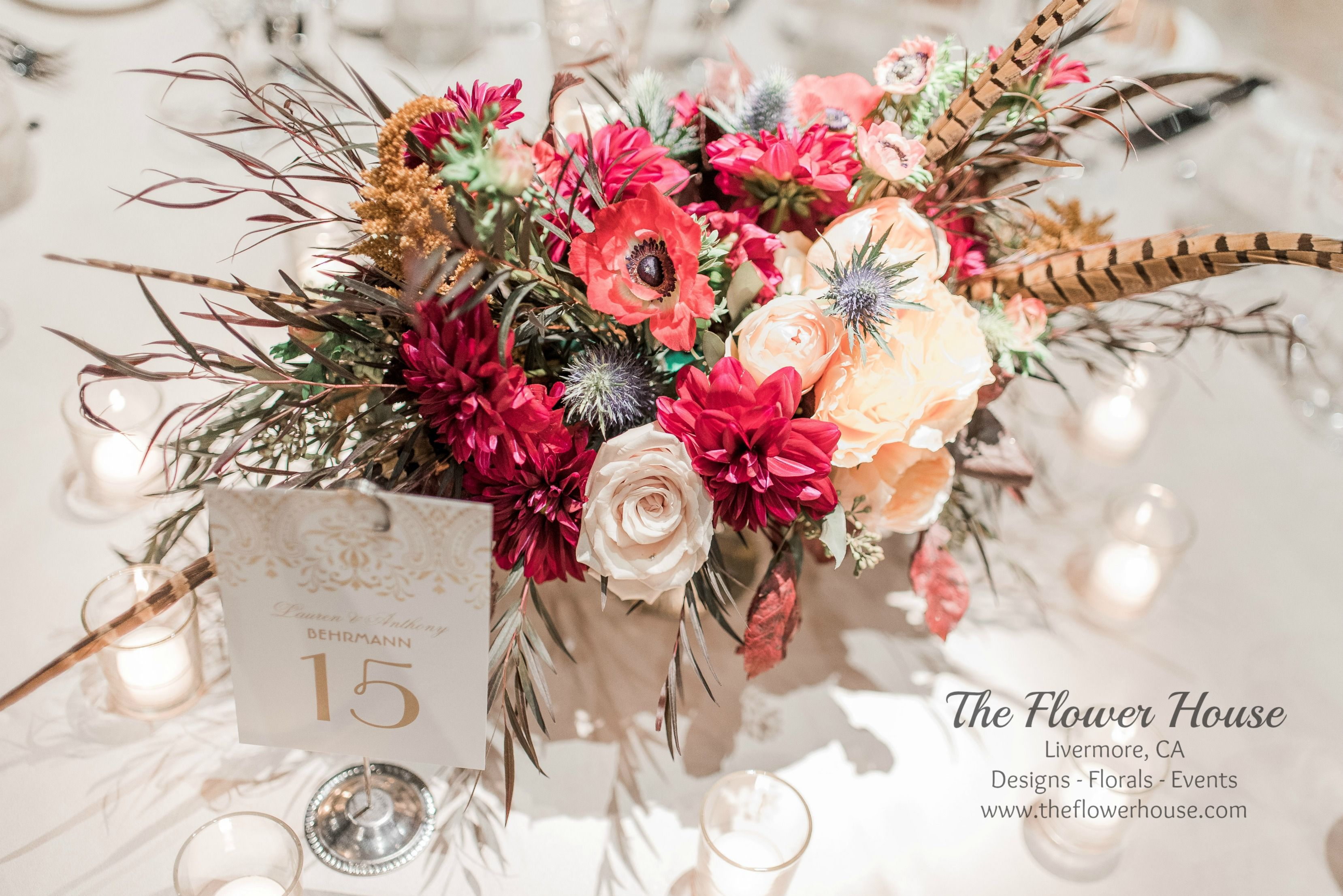 wedding tables centerpieces table numbers fall flowers red rh pinterest com