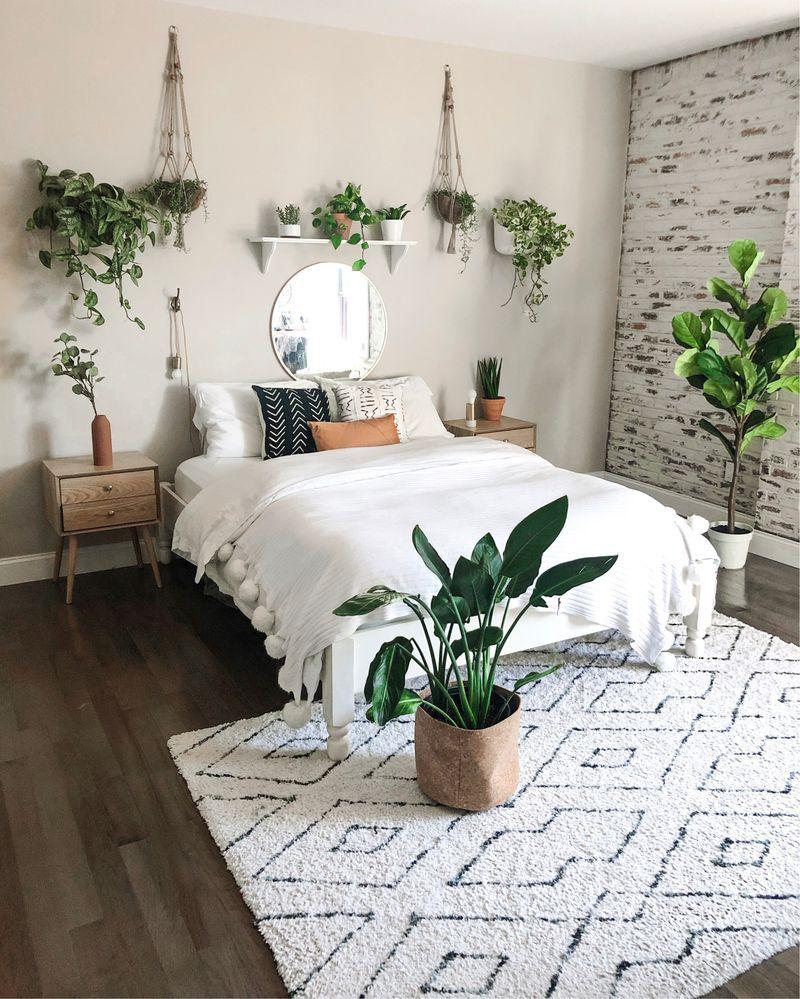 25 Cozy Bedroom Interior Designs With Plants Room Inspiration Bedroom Aesthetic Bedroom Home Decor Bedroom
