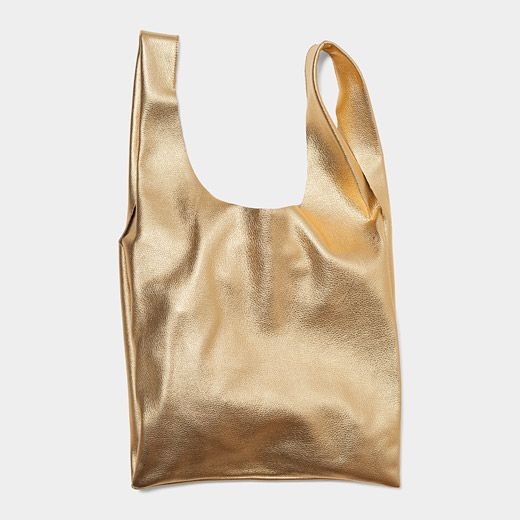 Gold Leather Bag